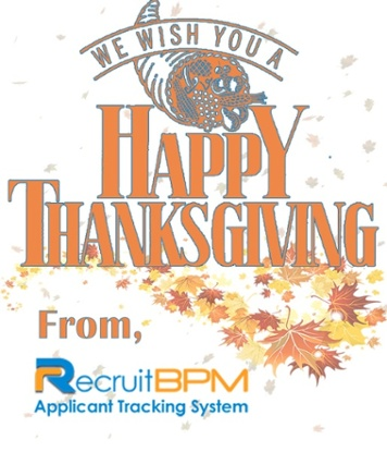 HAPPY THANKSGIVING FROM RECRUITBPM!