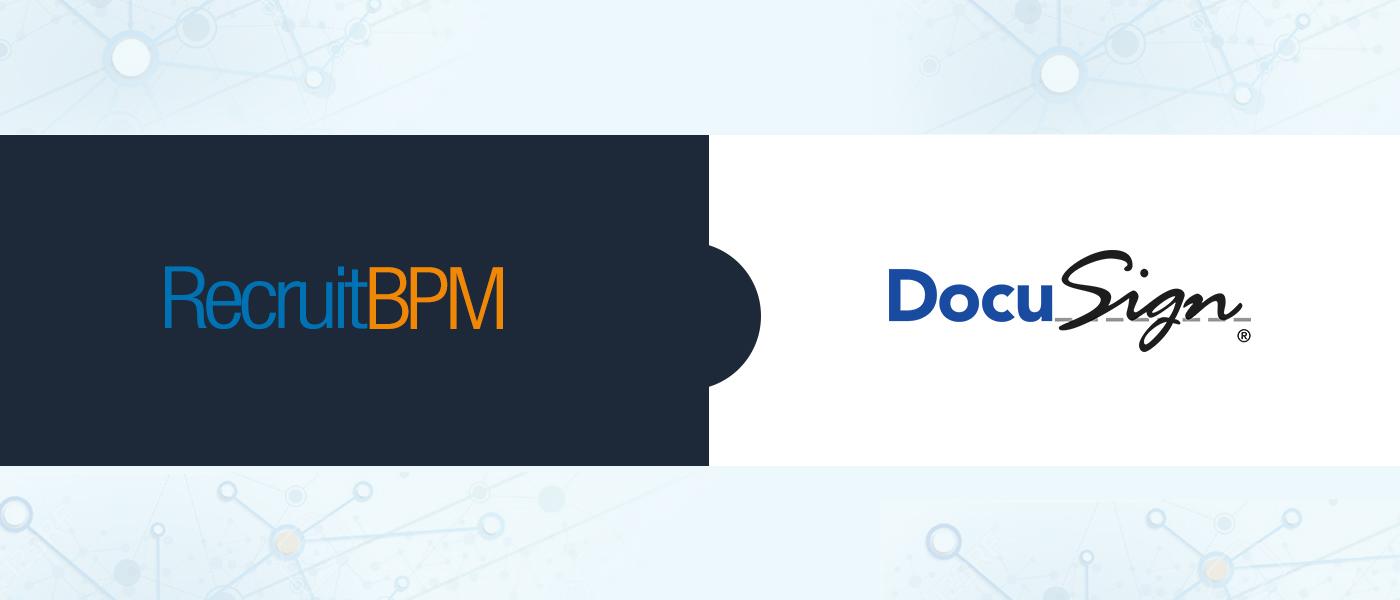 RecruitBPM Integrates with DocuSign